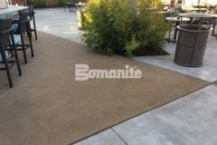 Bomanite Alloy decorative concrete was installed here to create cohesive decking that will provide durability and slip resistance next to the pool, while adding sparkle and sophistication that complements the sleek, stylish design aesthetic at the Hard Rock Hotel & Casino.