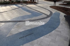 The entrance to the St. Louis Aquarium showcases a decorative concrete river of glass that was installed by our colleague Musselman & Hall Contractors using Bomanite Revealed, which will provide an architectural finish that is durable and perfectly portrays the Mississippi and Missouri River confluence.
