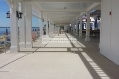 Bomanite Revealed was the perfect choice to create this decorative concrete hardscape at the Westchester Country Club because it will provide a highly durable surface that while adding a distinct design element that complements the oceanside beauty.