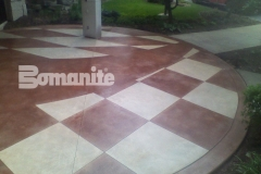 Bomanite Exposed Aggregate Systems with Bomanite Sandscape Refined creates a beautiful memorable entryway.