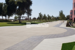 Bomanite Sandscape Texture was selected for this space based on proven performance and history in strength, durability, and design aesthetic, making it the perfect choice for the Valley Children's Hospital hardscape surfaces.