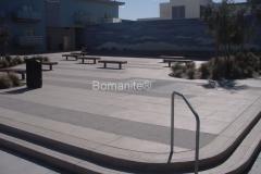 Bomanite Exposed Aggregate Concrete with Bomanite Sandscape Texture