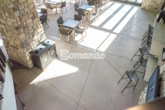 Bomanite Exposed Aggregate Sandscape Texture decorative concrete was installed in various spaces at the Gaylord Rockies Resort & Convention Center, creating consistency in design between the interior flooring and exterior hardscapes at this Colorado resort.