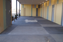 Bomanite Sandscape Texture was installed here to create the exterior walkway and front entry for the newly constructed Tulsa County Family Center for Juvenile Justice and this highly durable and cost effective architectural concrete finishing option was the perfect choice to provide durability and beautiful design features.