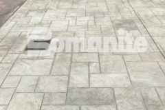 Bomanite Bomacron stamped concrete in Ashlar Slate was incorporated into the design at Tower Square pavilion to create a decorative and durable surface that was skillfully installed by Connecticut Bomanite Systems and earned them the 2018 Bomanite Imprint Systems Bronze Award.