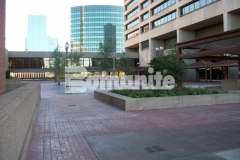 Bomanite Basketweave Brick imprinted concrete was installed here to replace worn out paving and masonry and the smooth surface is a beautiful, decorative feature that enhances the overall design aesthetic.